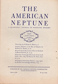 American Neptune: A Quarterly Journal of Maritime History  Volume 12 No. 1-4 1952 (4 Issues)Dodge (Ed.), Ernest S. - Product Image