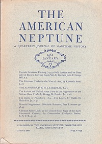American Neptune: A Quarterly Journal of Maritime History  Volume 21 No. 1-4 1961 (4 Issues)Dodge (Ed.), Ernest S. - Product Image