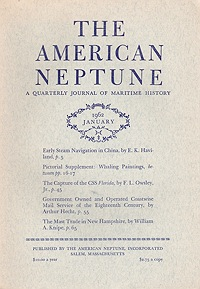 American Neptune: A Quarterly Journal of Maritime History  Volume 22 No. 1-4 1962 (4 Issues)Dodge (Ed.), Ernest S. - Product Image