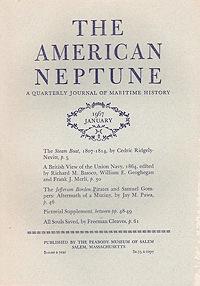 American Neptune: A Quarterly Journal of Maritime History Volume 27 No. 1-4 1967 (4 Issues)Carter (Ed.), John S. - Product Image