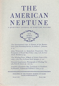 American Neptune: A Quarterly Journal of Maritime History &  Volume 33 No. 1-4 (4 Issues)Dodge (Ed.), Ernest S. - Product Image