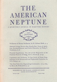 American Neptune: A Quarterly Journal of Maritime History  Volume 37 No. 1-4 1977 (4 Issues)Smith (Ed.), Philip Chadwick Foster - Product Image