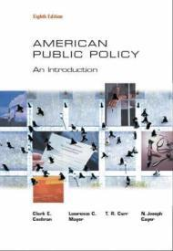 American Public Policy: An IntroductionCochran, Clarke E. - Product Image