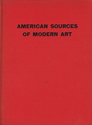 American Sources of Modern ArtCahill (Intro.), Holger - Product Image