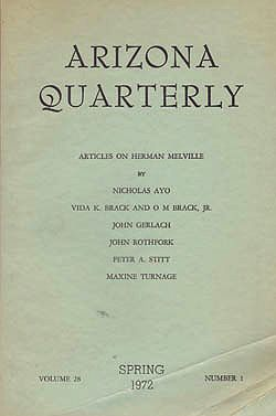 Arizona Quarterly - Spring 1972Melville, Herman - Product Image