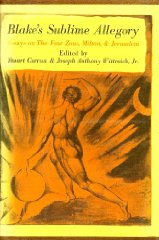 Blake's Sublime Allegory: Essays on the Four Zoas, Milton, Jerusalemby: Curran, Stuart - Product Image