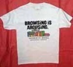 Browsing is Arousing(TM) White T-Shirt - Product Image