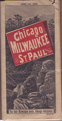 Chicago, Milwaukee and St. Paul Railway - Great National Route - Schedule - June 1st, 1879Chicago, Milwaukee and St. Paul Railway - Product Image
