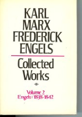 Collected Works of Karl Marx and Friedrich Engels, 1838-42, Vol. 2: The Early Writings of Engels, Including Poems and CorrespondenceMarx, Karl & Frederick Engels - Product Image