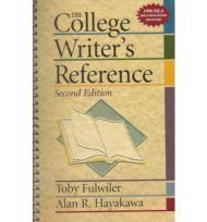 College Writer's Reference, TheFulwiler, Toby - Product Image