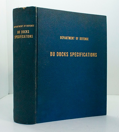 Department of the United States Navy Bureau of Yards and Docks - BU Docks Specifications - 1960United States Department of Defense/Department of the Navy - Product Image