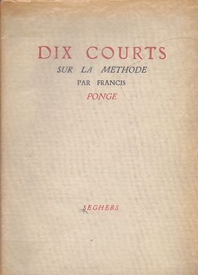 Dix Courts sur La MethodePonge, Francis - Product Image