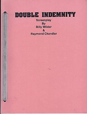 Double Indemnity: ScreenplayWilder, Billy and Raymond Chandler - Product Image