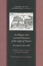 ELEGANT AND LEARNED DISCOURSE, ANCULVERWELL, NATHANIEL - Product Image