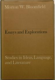 Essays and Explorations: Studies in Ideas, Language and Literatureby: Bloomfield, Morton W. - Product Image