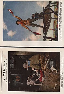 FOUR COLOR PLATES/ BOYS WILL BE - MEN/ RED CROSS MAGAZINE NOVEMBER 1918Rockwell (Illust.), Norman, Illust. by: Norman  Rockwell - Product Image