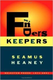 Finders Keepers: Selected Prose 19712001Heaney, Seamus - Product Image