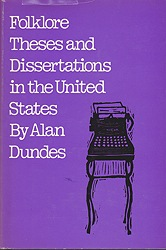 Folklore Theses and Dissertations in the United StatesDundes, Alan - Product Image