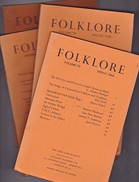 Folklore: Volume 79 1968 (4 issues)Folk-Lore Society - Product Image