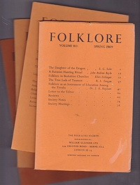 Folklore: Volume 80 1969 (4 issues)Folk-Lore Society - Product Image