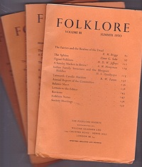 Folklore: Volume 81 1970 (4 issues)Folk-Lore Society - Product Image