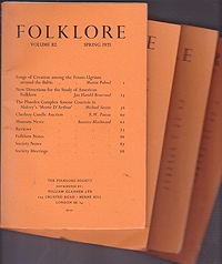 Folklore: Volume 82 1971 (4 issues)Folk-Lore Society - Product Image