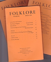 Folklore: Volume 86 1975 (3 issues)Folk-Lore Society - Product Image