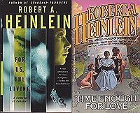 For Us the Living, Expanded Universe, Time Enough for Love, JOB: A Comedy of Justice (4 paperback novels)Heinlein, Robert A. - Product Image