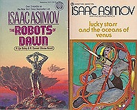 Foundation and Earth, Second Foundation, The Robots of Dawn, Lucky Starr and the Oceans of Venus (4 paperback novels)Asimov, Isaac - Product Image