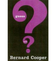 Guess Again: Short StoriesCooper, Bernard - Product Image