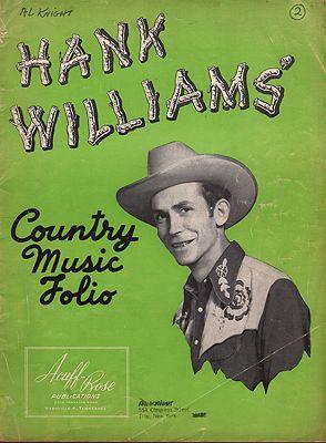Hank Williams Country Music FolioWilliams, Hank - Product Image