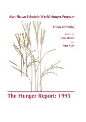 Hunger Report 1995, The : The Alan Shawn Feinstein World Hunger Program, Brown University, Providence, Rhode IslandMesser, E. (Editor) - Product Image
