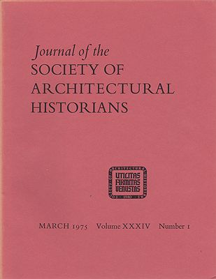 Journal of the Society of Architectural Historians, Volume XXXIV, Number 1- 4 March, May, October, December 1975 (Four Issues)O'Gorman (Ed.), James F. - Product Image