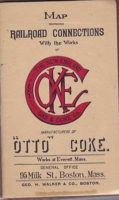 Map Showing Railroad Connections with the Works of The New England Gas & Coke Co.New England Gas & Coke Co. - Product Image