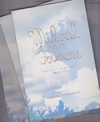 Midwest Folklore - Volume X Nos. 1-4 (4 issues)Richmond, W. Edson - Product Image