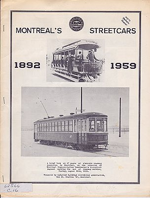 Montreal's Streetcars: 1892 - 1959N/A - Product Image