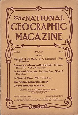 National Geographic Magazine - May 1909 Vol. XX  No. 5National Geographic Society - Product Image