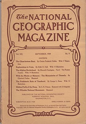 National Geographic Magazine - September 1909  Vol. XX  No.9National Geographic Society - Product Image