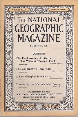 National Geographic Magazine - Vol. XXXII  No. 3 September 1917National Geographic Society - Product Image