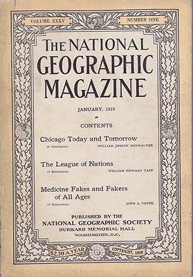 National Geographic Magazine - Vol. XXXV  No. 1 January 1919National Geographic Society - Product Image