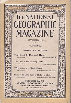 National Geographic Magazine - Vol. XXXVI  No. 5 November 1919National Geographic Society - Product Image