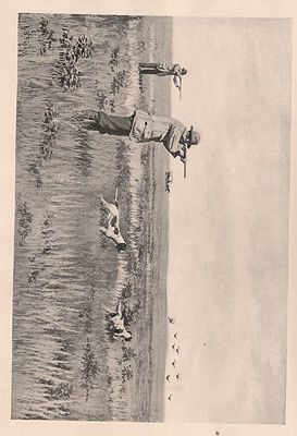 "ORIG B&W SPORTING PRINT/ ""PRAIRIE-CHICKEN SHOOTING""Frost (Illust.), A.B., Illust. by: A.B.  Frost - Product Image"