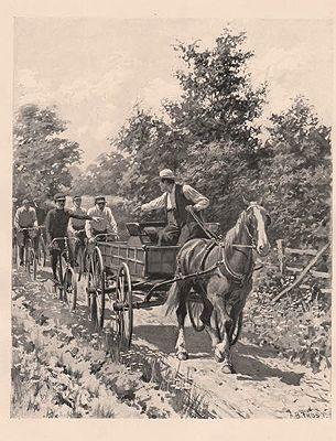 "ORIG B&W SPORTING PRINT/ ""RIGHT OF WAY""Frost (Illust.), A.B., Illust. by: A.B.  Frost - Product Image"