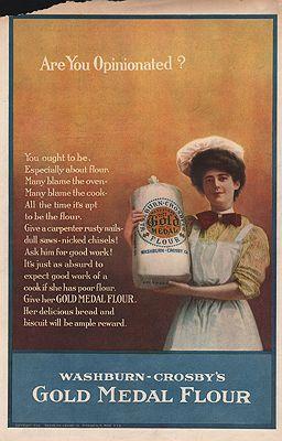 ORIG VINTAGE 1906 GOLD MEDAL FLOUR ADillustrator- N/A - Product Image