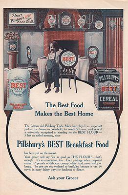 ORIG VINTAGE 1907 PILLSBURY FLOUR ADillustrator- N/A - Product Image