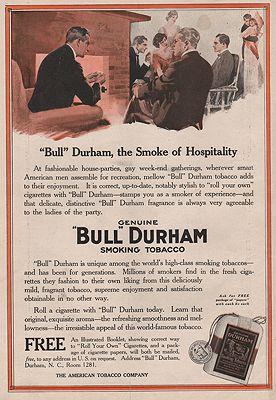 ORIG VINTAGE 1915 BULL DURHAM TOBACCO ADillustrator- N/A - Product Image