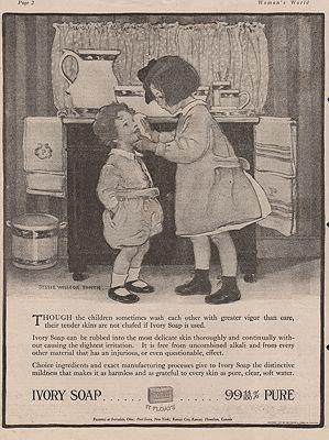ORIG VINTAGE 1917 SOAP ADillustrator- Jessie Wilcox  Smith - Product Image