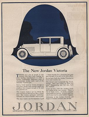 ORIG VINTAGE 1923 JORDAN CAR ADillustrator- N/A - Product Image