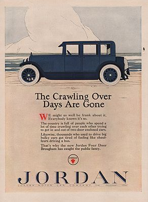 ORIG VINTAGE 1923 JORDAN CAR ADillustrator- Rene  Clarke - Product Image