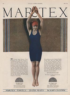 ORIG VINTAGE 1923 MARTEX TOWEL ADillustrator- N/A - Product Image